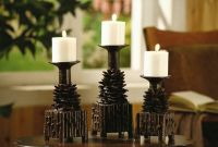 Pinecone Candle Holders Rustic Cabin Lodge Decor Pine Cone ...