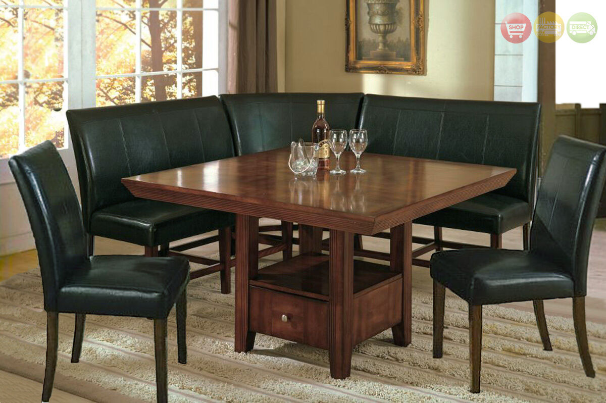 Corner Table Dining Set Salem 6 Pc Breakfast Nook Dining Room Set Table Corner