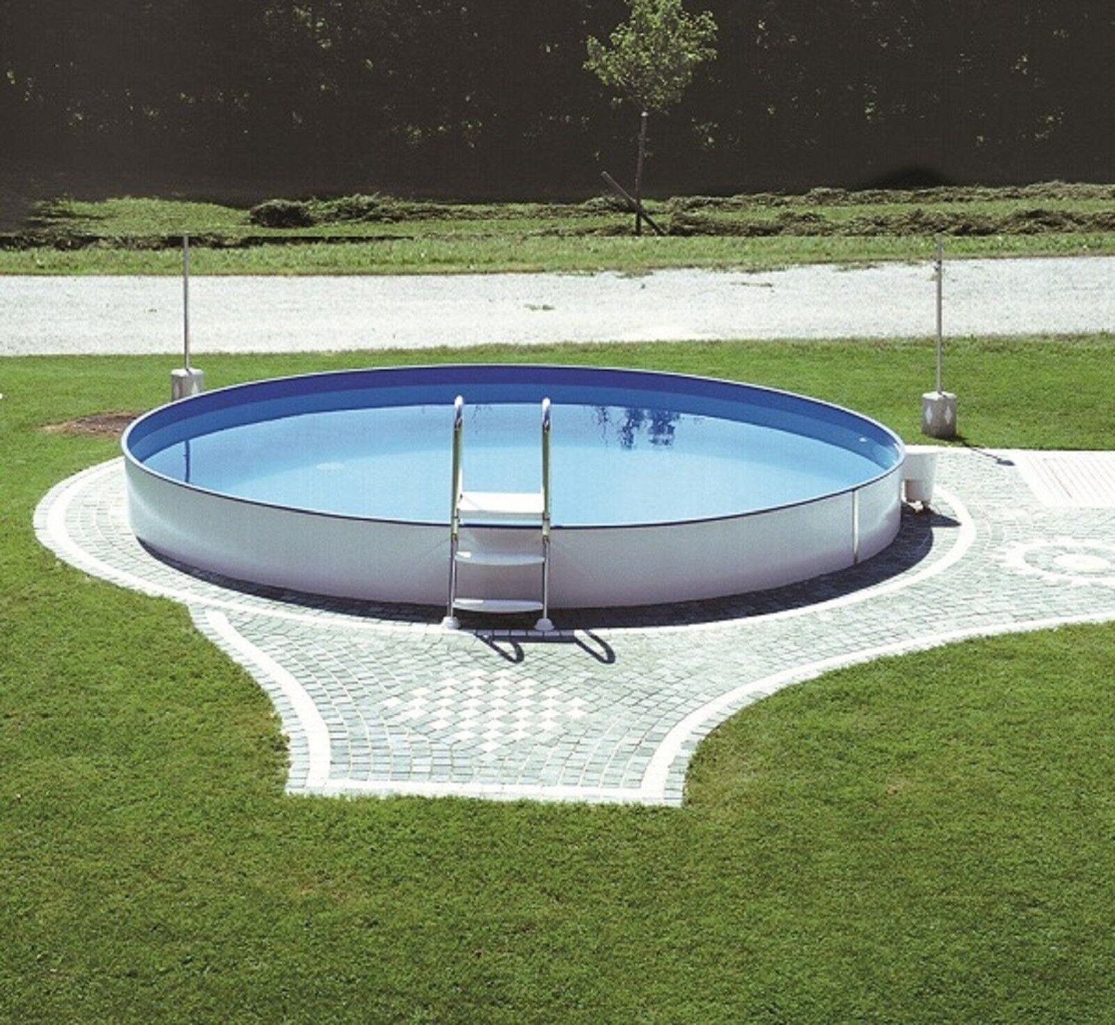 Pool rund tief mein badetraum rundbecken pool set 3 for Stahlwandbecken steinoptik