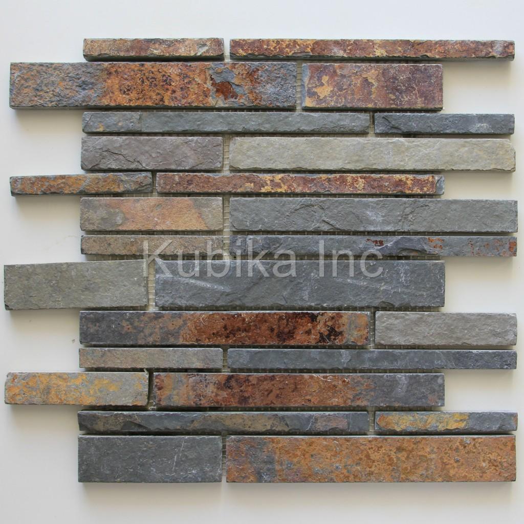 stone mosaic tile kitchen backsplash multicolor slate stone mosaic tile kitchen backsplash multicolor slate