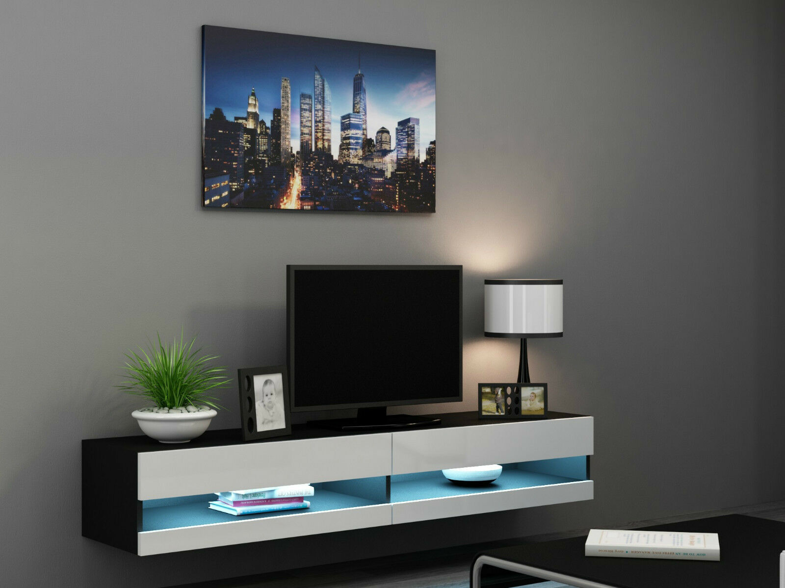 Floating Tv Wall Unit Tv Wall Unit Tv Stand Floating Bench Quotvivo New Quot Ebay