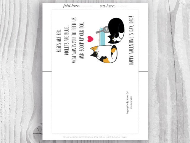 Valentine Card Printable, Valentine Card Him Printable for Dad