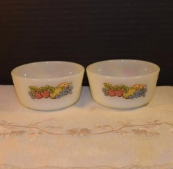 Christmas Usa Anchor Hocking Fire King Bounty Milk Glass Bowls Vintage Anchor Hocking Fire King Bounty Milk Glass Bowls Vintage Pair Proof Round Dishes Mid Century Small Bowls Made