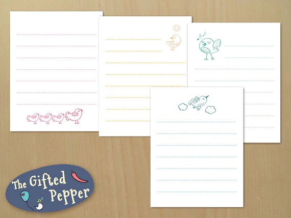 Printable note paper notepad note cards instant download Etsy
