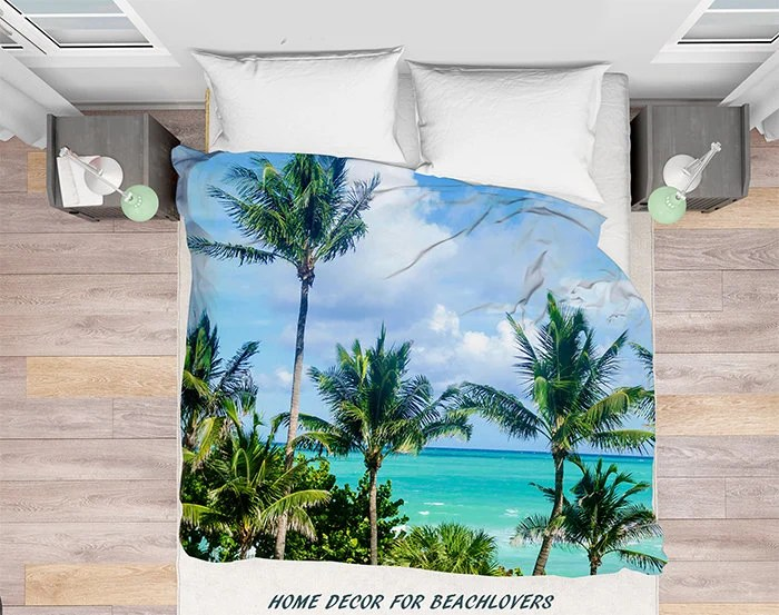 Miami Beach Palms Duvet Cover Palmen Miami Florida