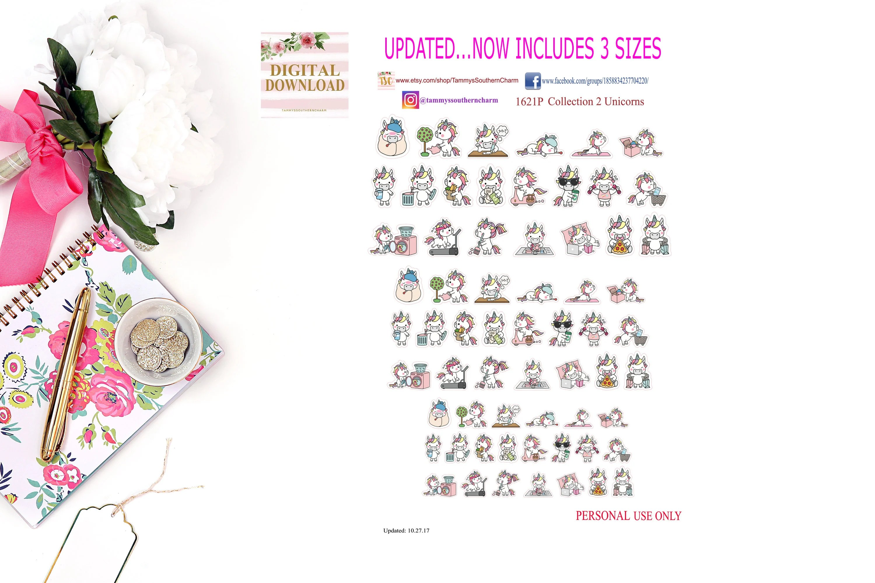 Cute Stickers For Facebook Collection 2 Unicorn Stickers Kawaii Planner Stickers Happy Planner Planner Layouts Kawaii Stickers Cute Stickers Functional