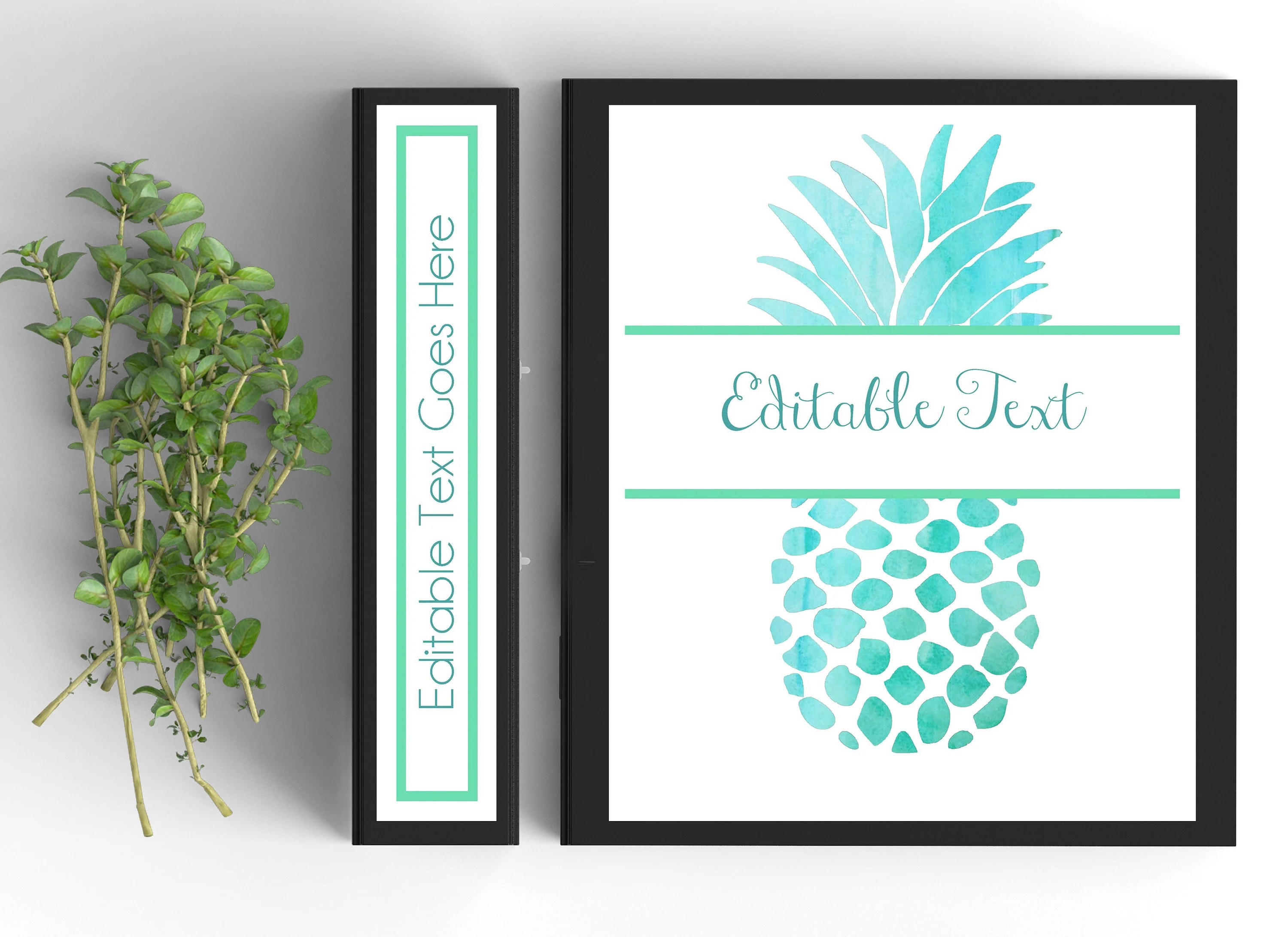 Pineapple Binder Cover-Personalized Binder Inserts and Spines Etsy