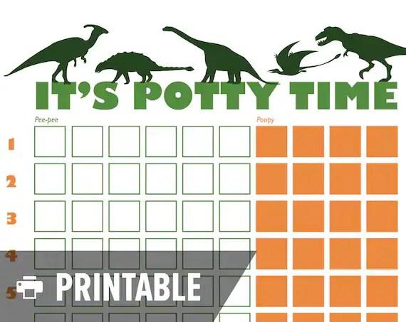Potty Training Chart Dinosaur It\u0027s Potty Etsy - potty training chart