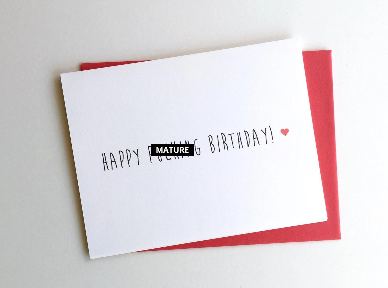 Happy Fcking Birthday   Funny Birthday Card   Swear Word Etsy