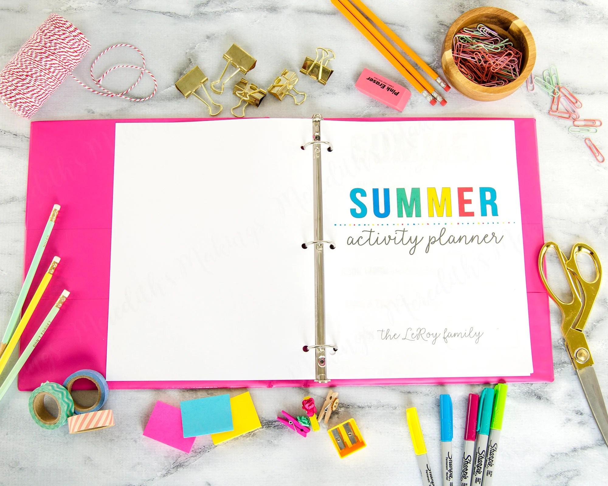 Printable Summer Activity Planner Summer Calendar Summer Etsy