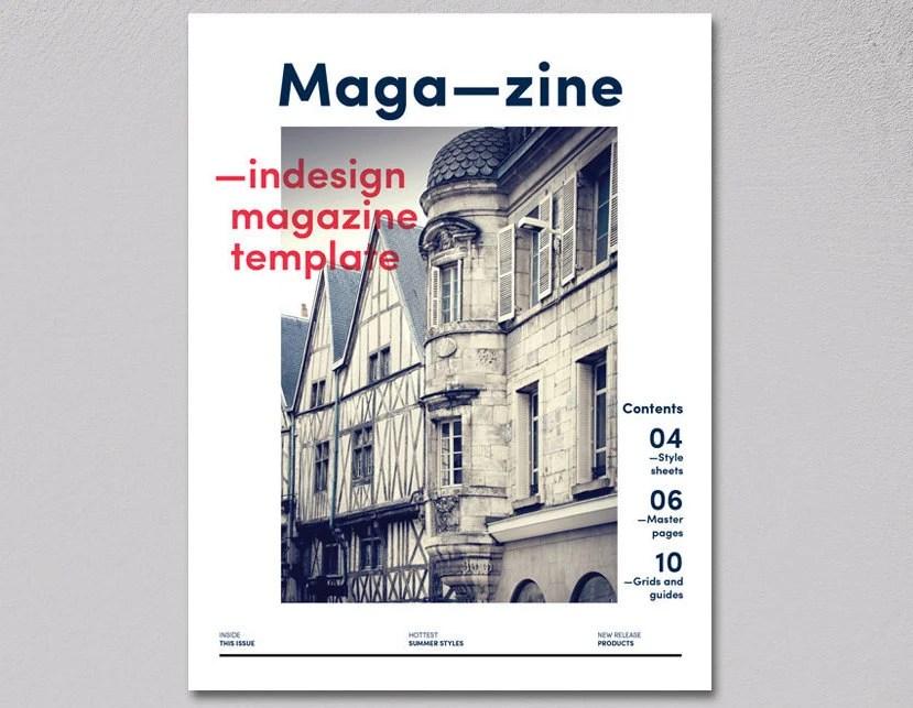 Magazine InDesign Template editable customisable magazine Etsy