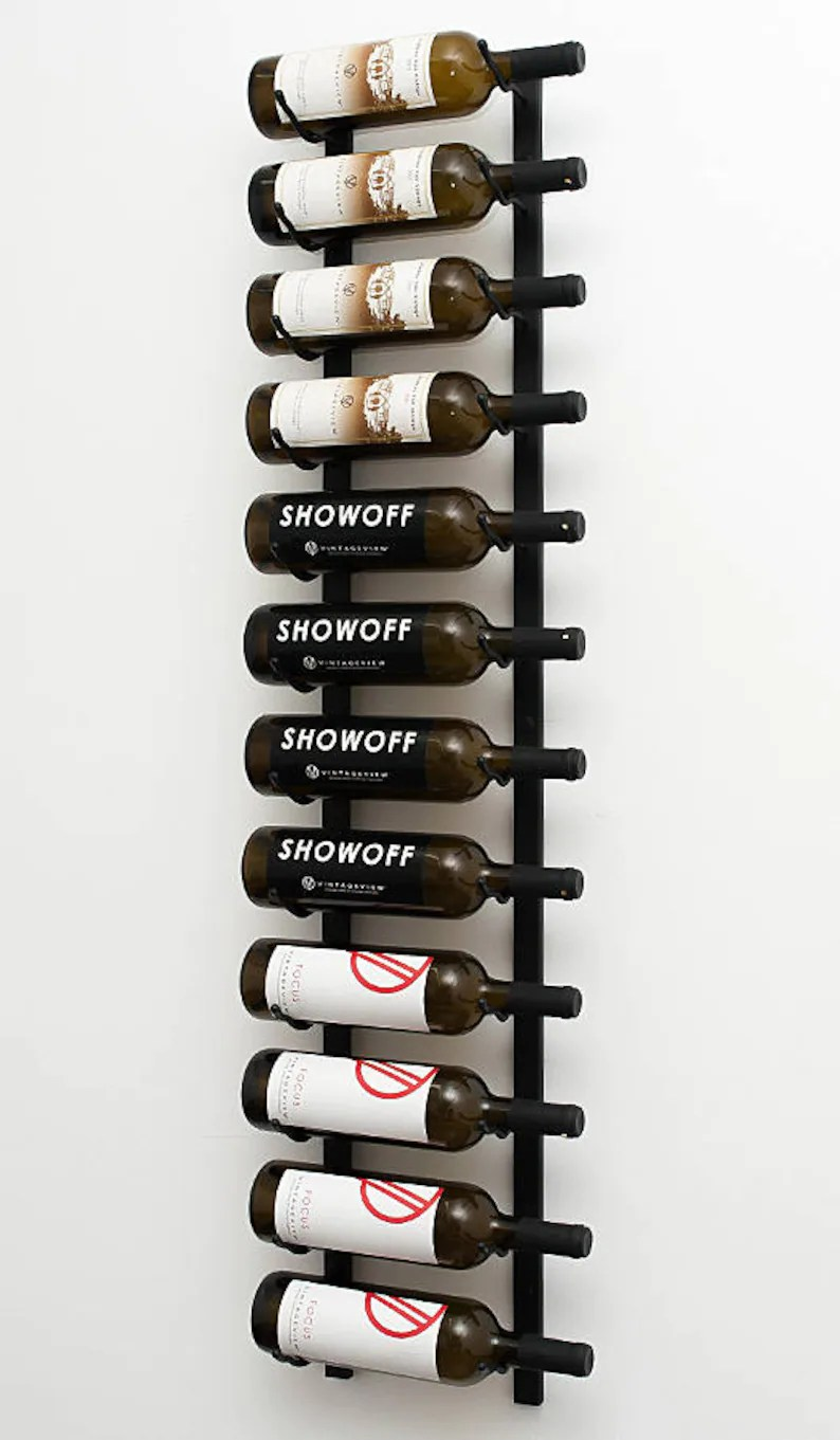 Decorative Metal Wine Racks Vintageview Ws41 12 Bottle Wall Mounting Metal Wine Rack 3 Available Finishes
