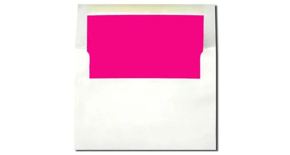20 White with Hot Pink Magenta Lined Envelopes A7 Size Etsy