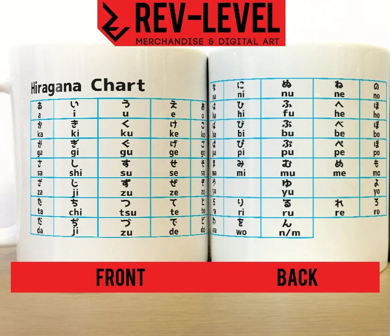Learn Japanese Hiragana Alphabet Chart Mug Help Learn - hiragana alphabet chart