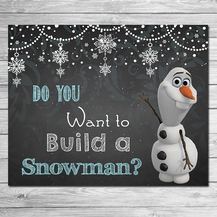 Frozen Do You Want to Build A Snowman Sign Chalkboard Olaf   Etsy