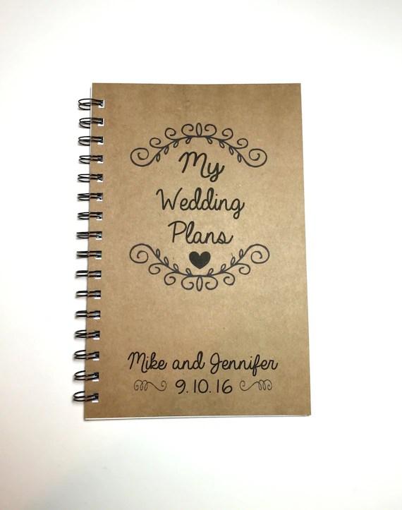 My Wedding Plans Wedding Plan Book Wedding Ideas Custom Etsy