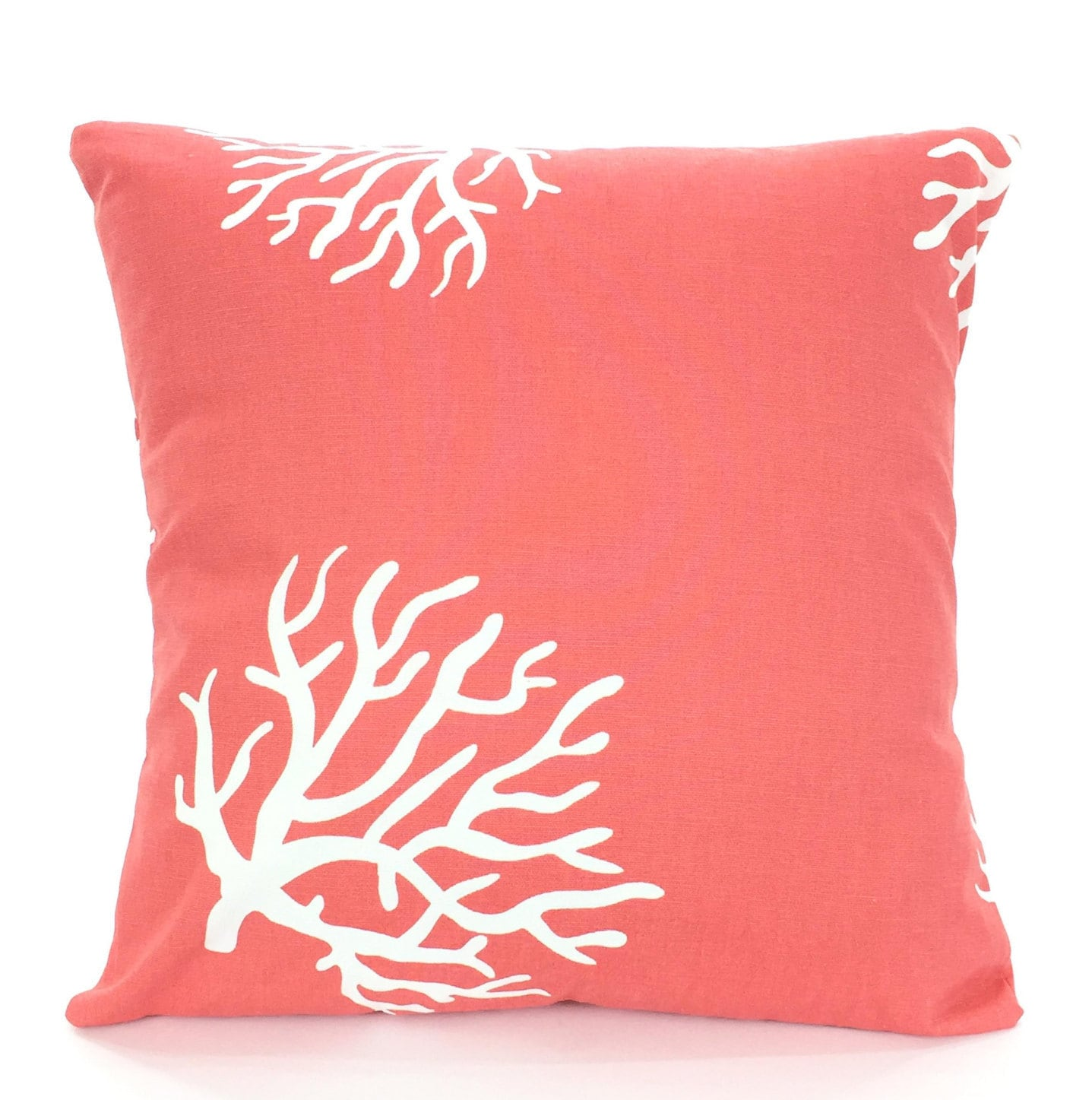 Nautical Sofa Throws Coral Throw Pillow Covers Nautical Cushion Covers Decorative Throw Pillow Coral White Beach Decor Couch Sofa Bed Cotton Pillows All Sizes