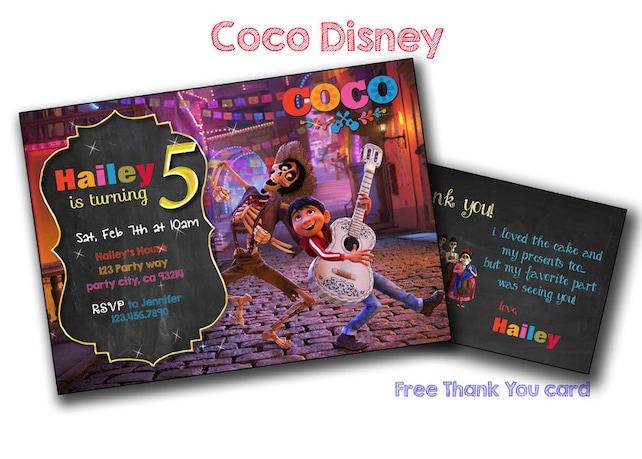 Coco invitation,Coco disney Birthday,Coco PRINTABLE birthday card
