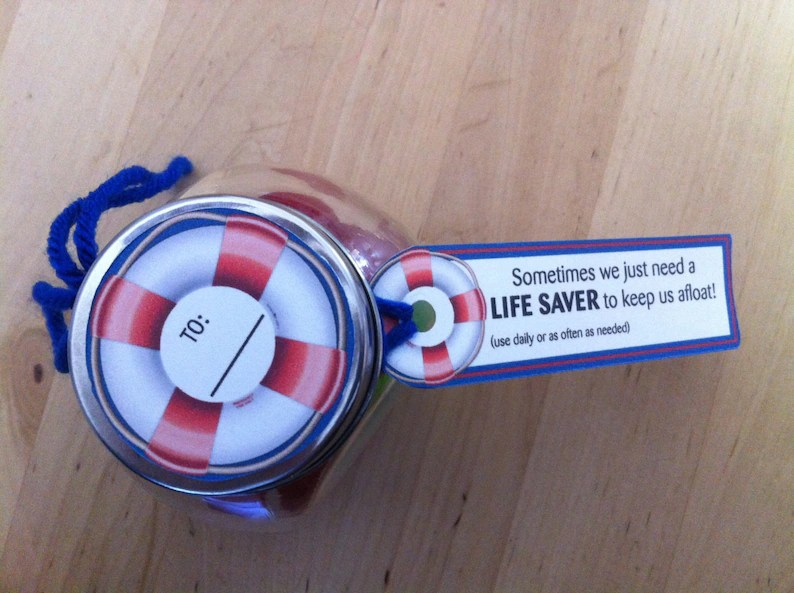 Life saver Candy Treat Label with quote Digital Download Etsy