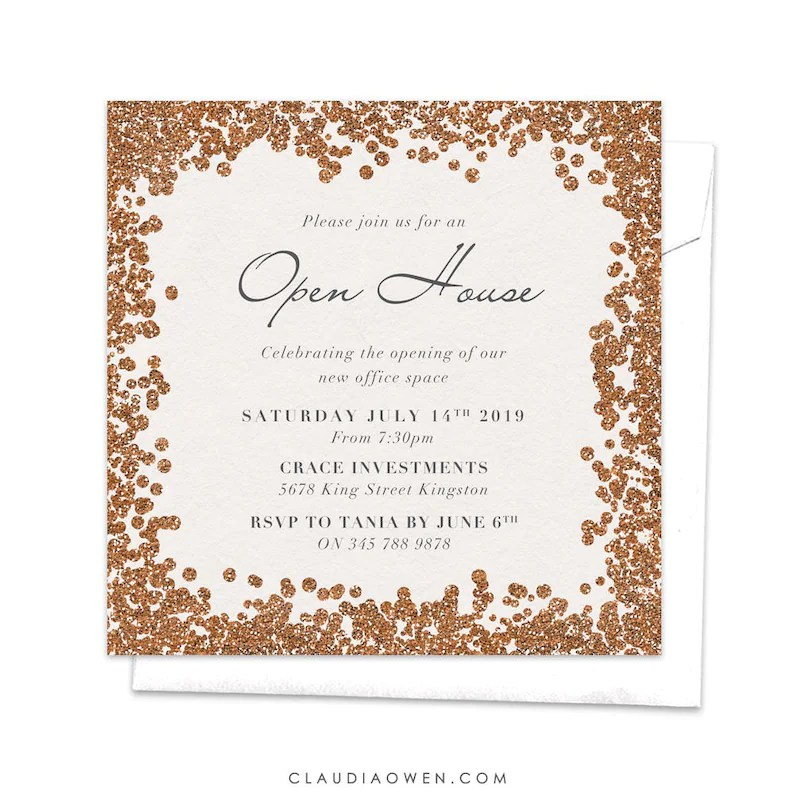 Open House Corporate Event Professional Event Cocktail Etsy