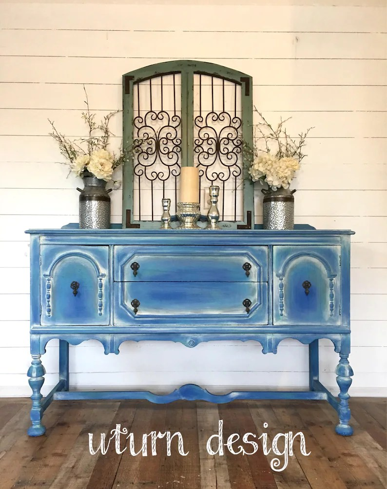 Buffet Sideboard Blue Sold Coastal Blue Painted Buffet Beach Cottage Sideboard Shabby Chic Vintage Hutch