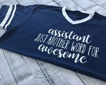 Assistant Awesome Shirt Aide Teacher Just Another Word for Etsy