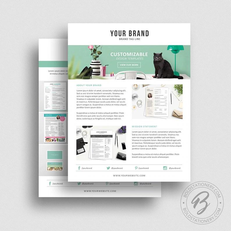 Product Media Kit Template 07 Press Kit Pitch kit Etsy