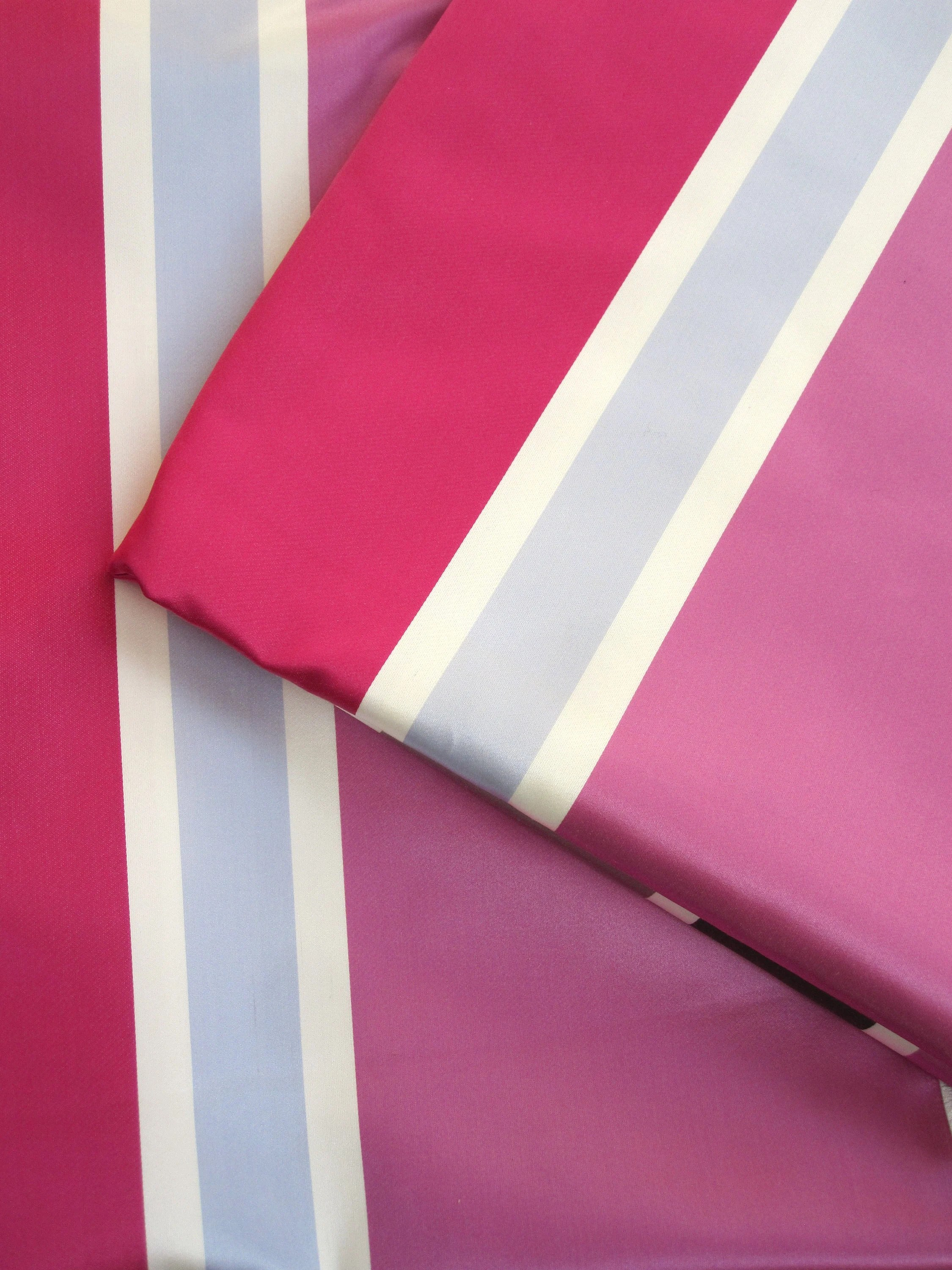 Satin Meterware Sale Meterware Satin Stripes Fabric Fabric Tissu Pattern Pink Pink Bleu Jab