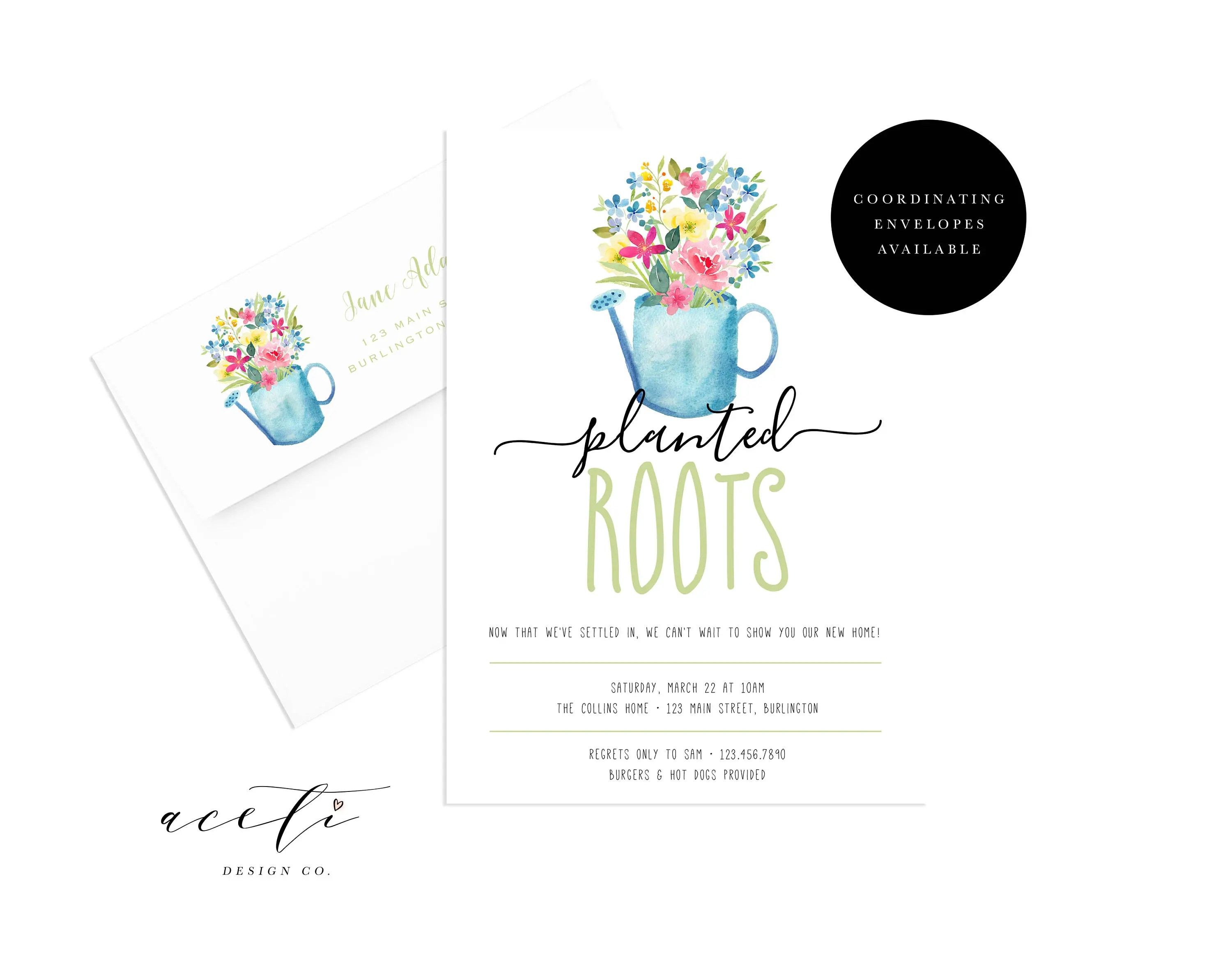 Housewarming Party Planted Roots Housewarming Party Invite Etsy