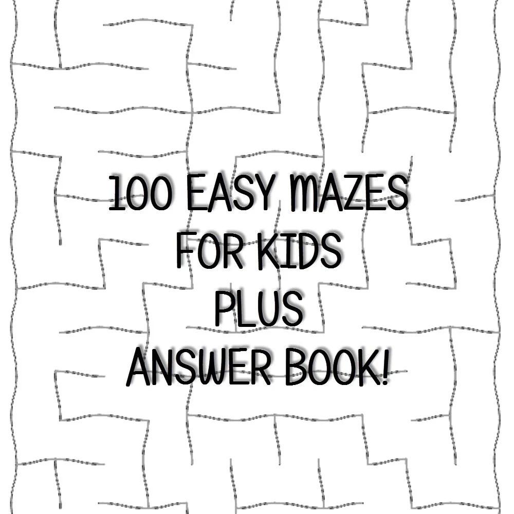 Easy Mazes for Kids 100 Printable Worksheets Answer Keys PDF Etsy