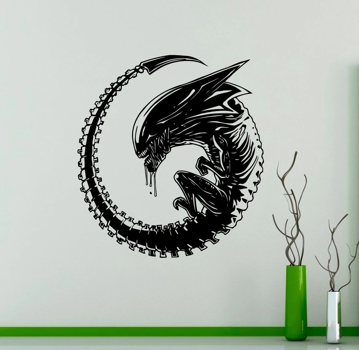Horror Woonkamer Alien Wall Decal Film Horror Film Muur Vinyl Sticker Muur Huis Interieur Woonkamer Decor Verwisselbare Stickers 25 Avp