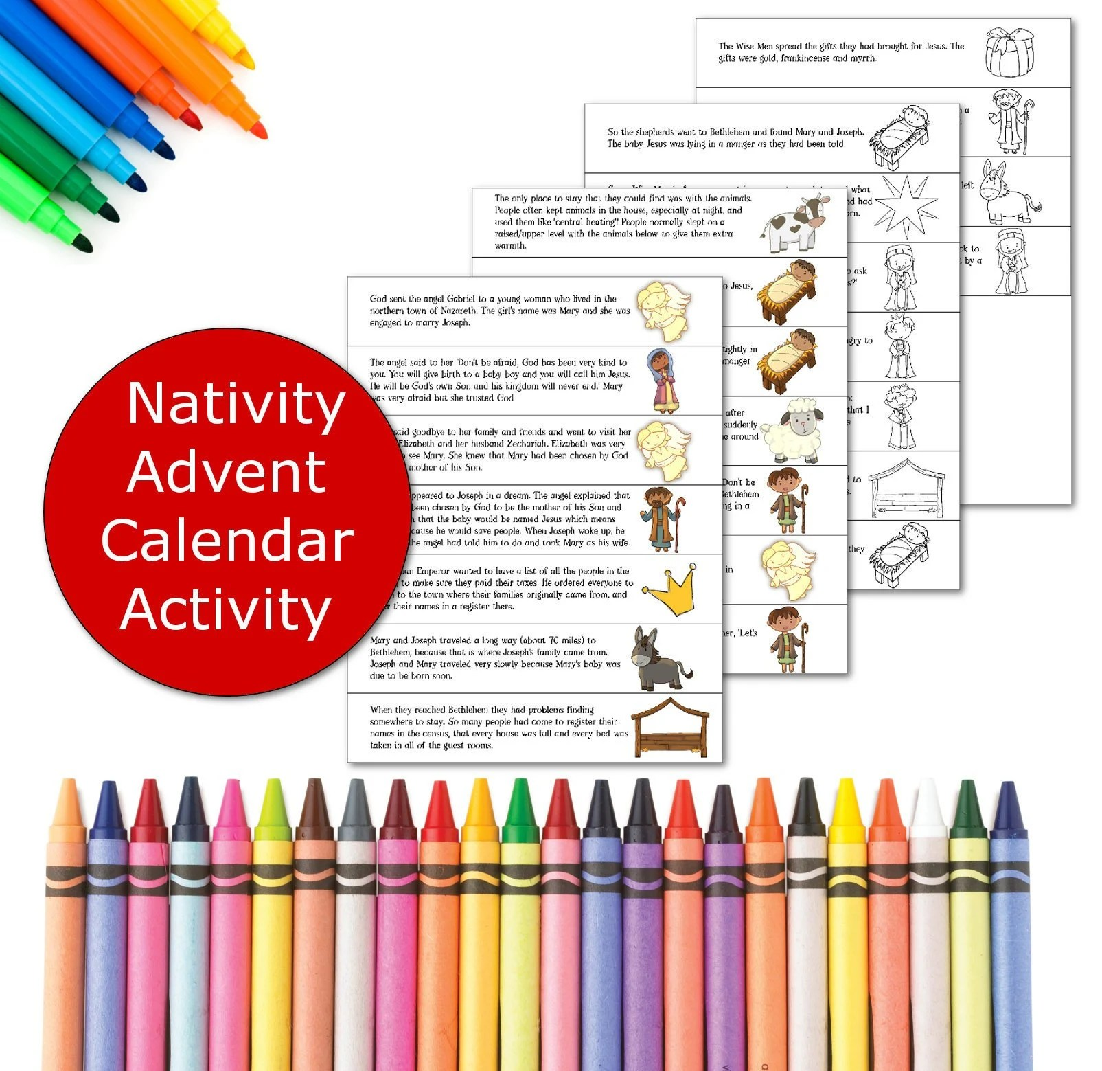 Advent Calendar Printable Christmas Activity For Kids Etsy