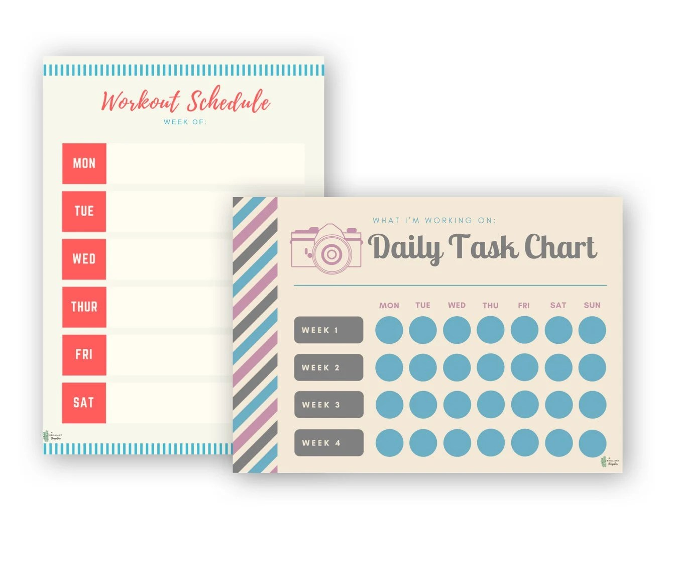Undated Planner Printable Daily Weekly Monthly Schedule Etsy