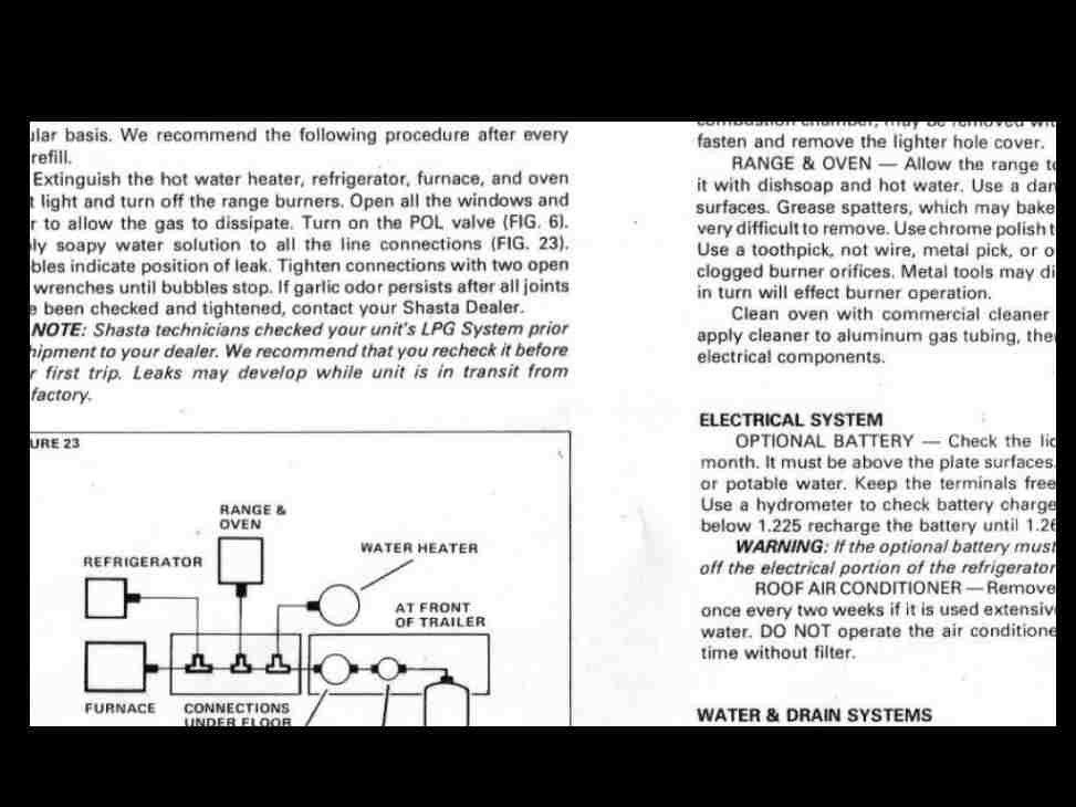 SHASTA Trailer RV Manual for Camper Appliance Service  Repair Etsy
