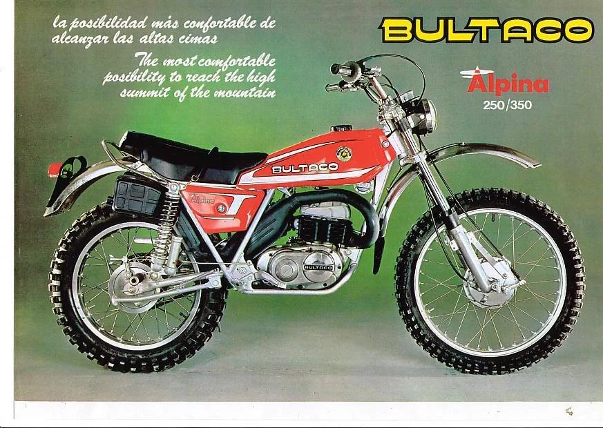 BULTACO Cemoto ALPINA PARTs MANUAL 100pg for Motorcycle Etsy