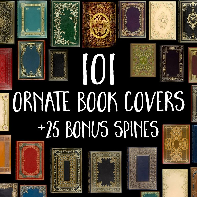 101 Decorative Book Covers Book Digital Paper Old Book Etsy