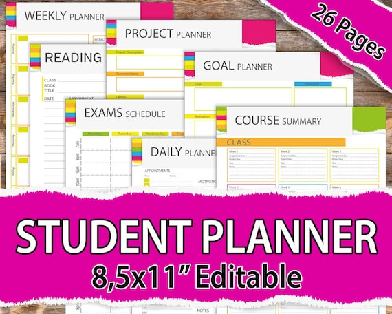 College student planner 2018-2019 Student Planner 2018-2019 Etsy