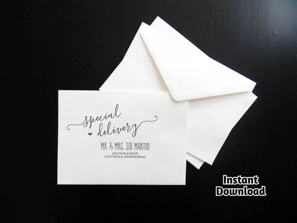 Wedding RSVP Envelope Template Printable Rustic Etsy - sample 5x7 envelope template