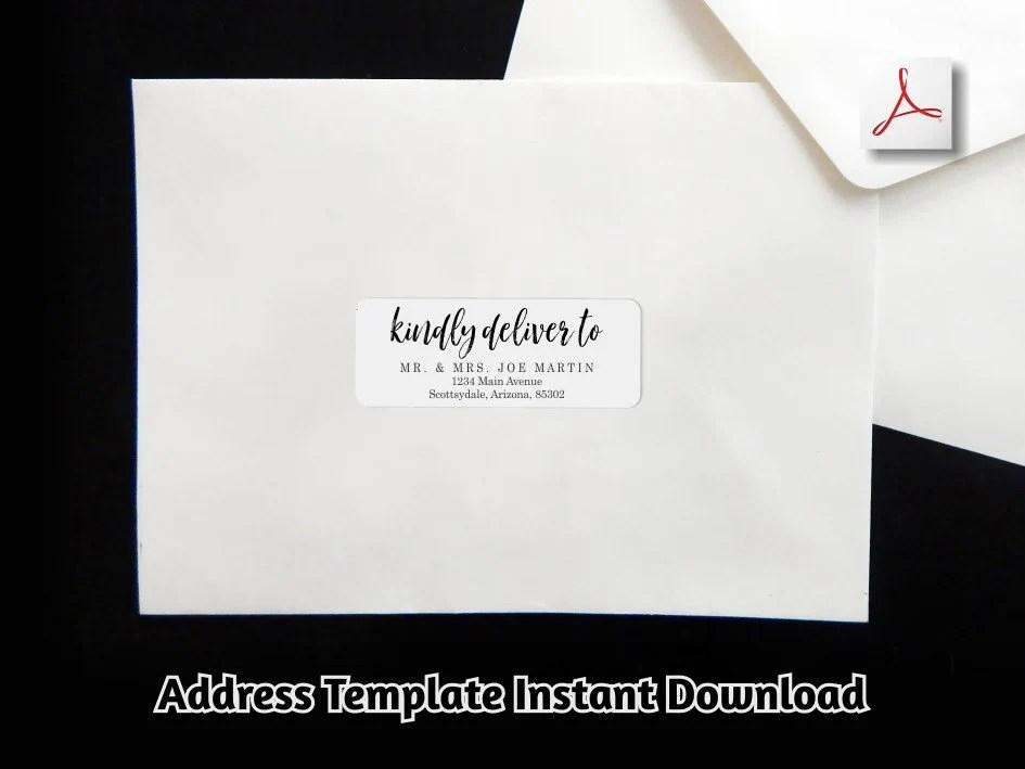 Address Label Template Printable Envelope Label Avery 1 x Etsy