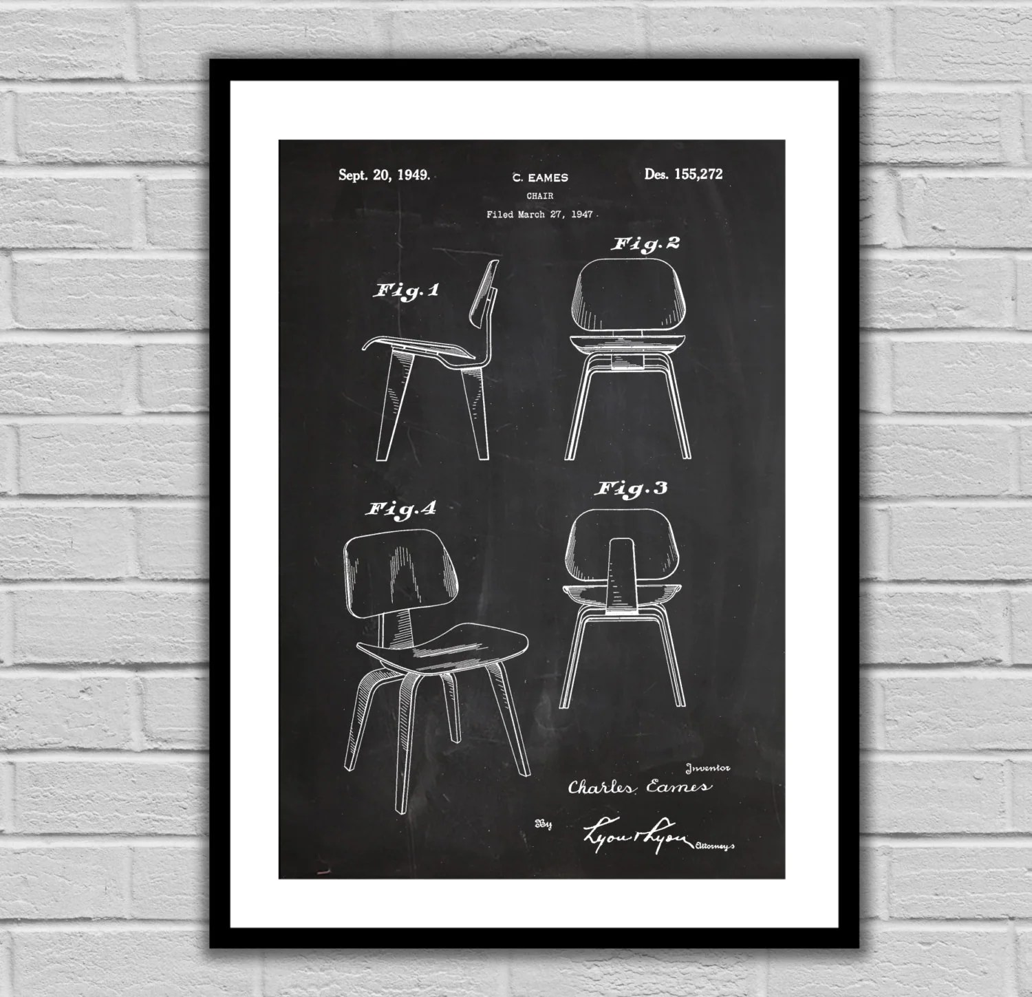 Eames Chair Patent Eames Chair Patent Eames Chair Poster Eames Chair
