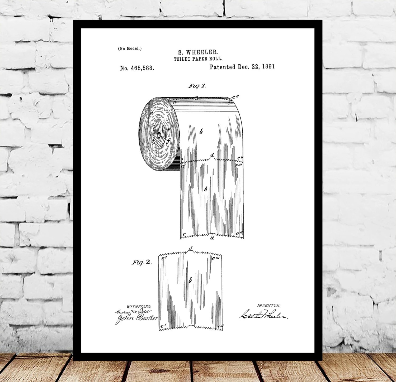 Bathroom Wall Art Decor Toilet Paper Art Bathroom Art Bathroom Wall Decor Bathroom Wall