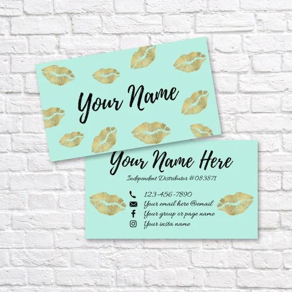 LipSense business card SeneGence business card Custom Etsy - lipsense business card