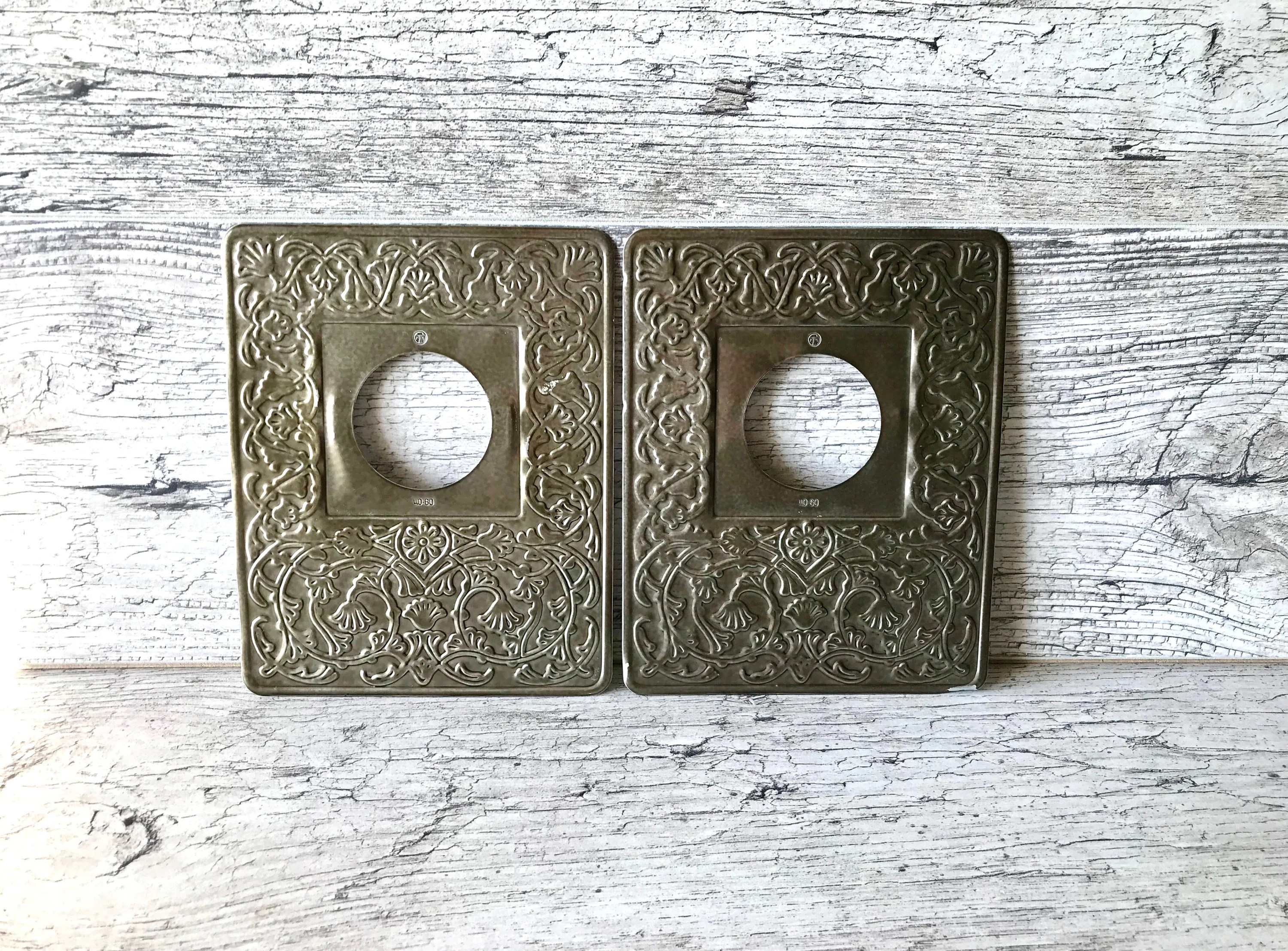 Vintage Light Switch Plate Covers Light Switch Cover Light Switch Plate Two Metal Light Switch Covers Vintage Light Switch Covers Home Decor Light Cover Ussr Soviet Retro