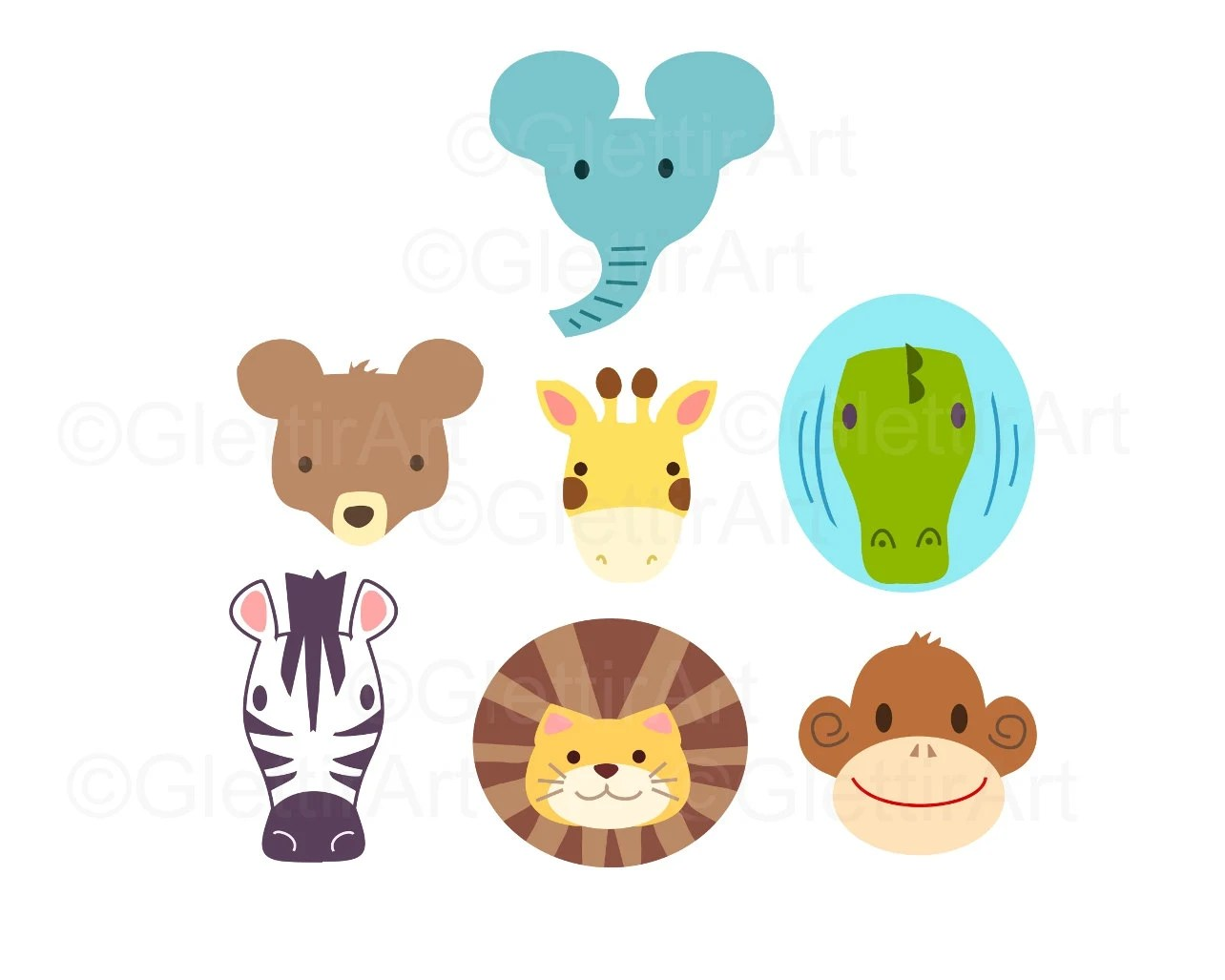 Zoo Animal clipart Animal clipart for personal and commercial Etsy