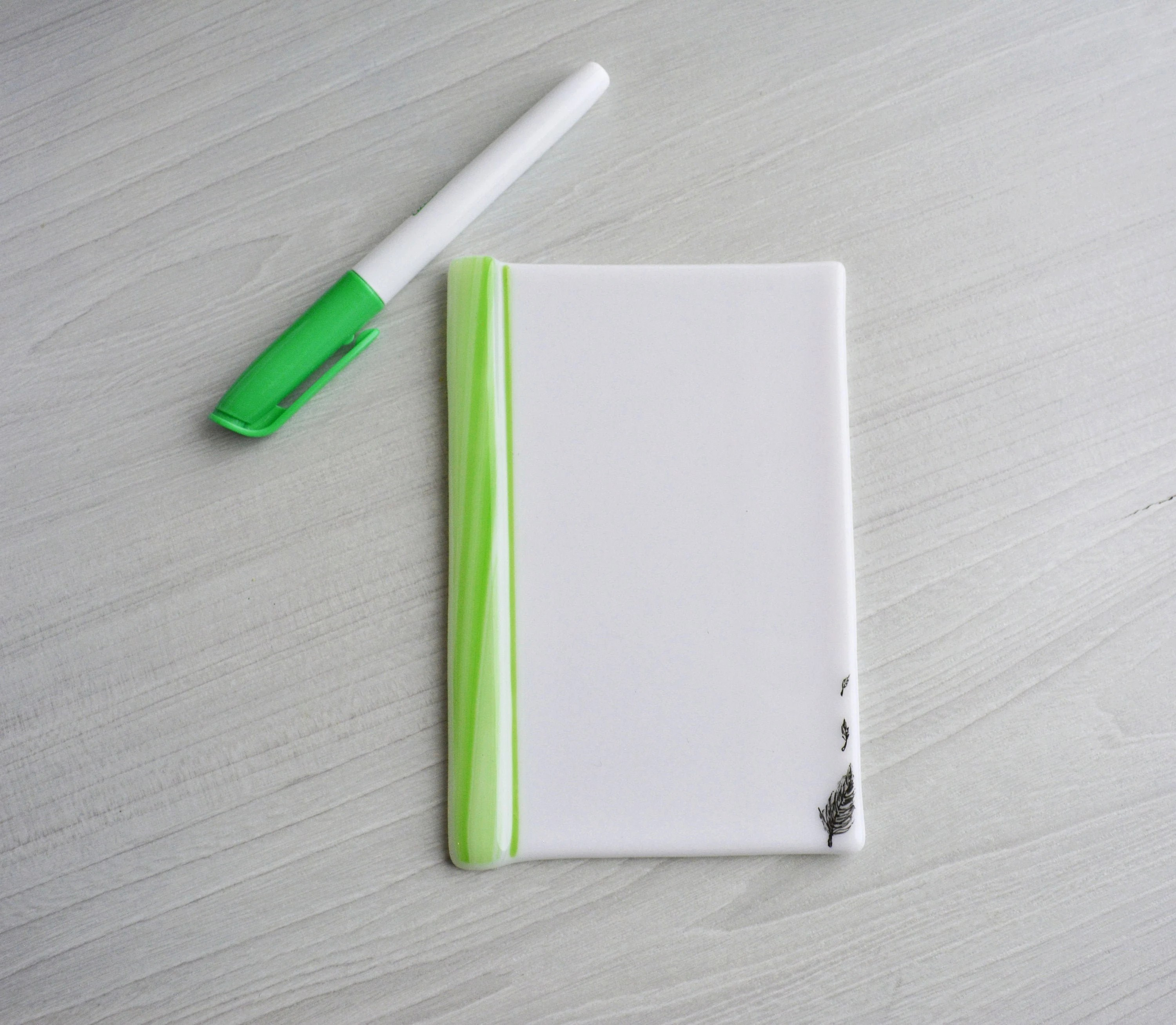 Mother S Day Gift Dry Erase Fused Glass Memo Fused Glass White Board Note Pad Memo Board Board
