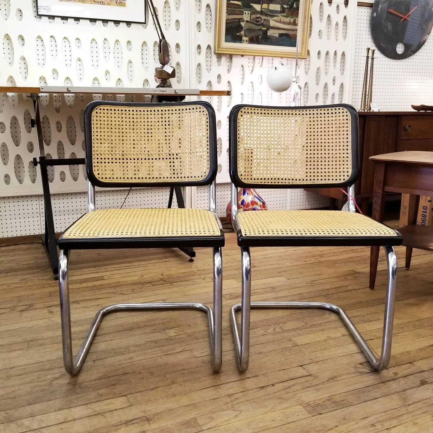 Thonet S32 Two Marcel Breuer S32 Side Chairs By Thonet Vintage Bauhaus