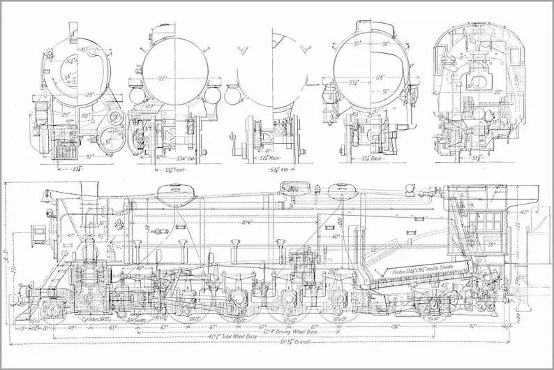 Poster Many Sizes Available Usra Heavy Santa Fe Railroad Etsy