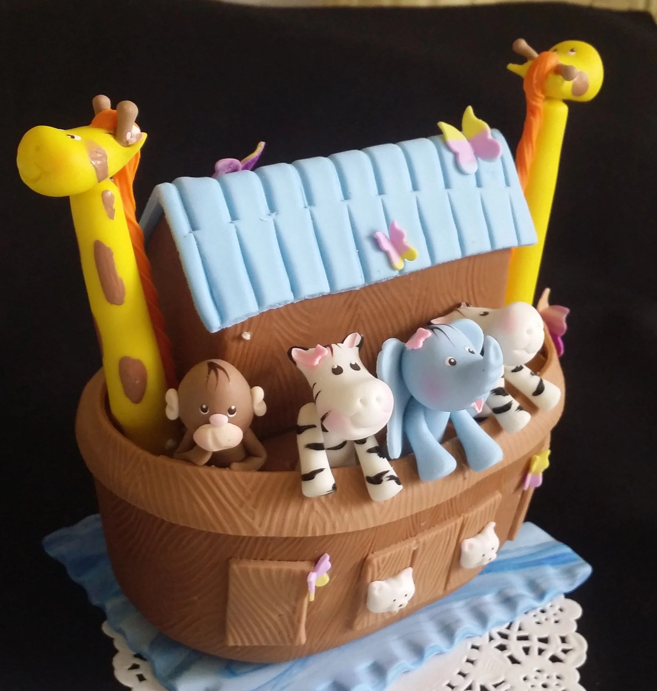 Ark Kuchen Noah S Ark Baby Shower Noahs Ark Cake Noahs Ark Decoration Noah S Ark Birthday Cake Decorations Noah S Ark Favors Animals Cake Topper