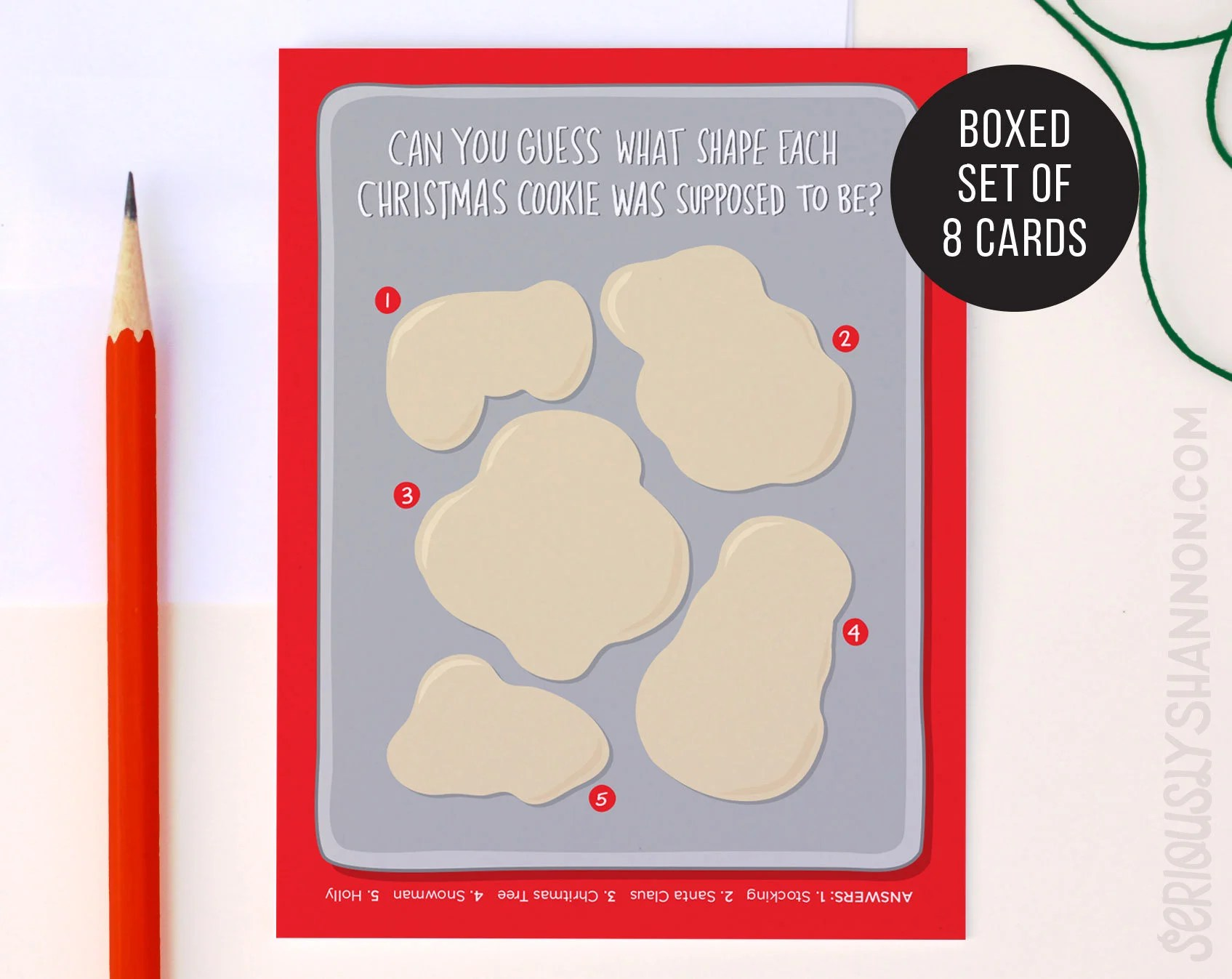 Funny Christmas Card Baking Fail Funny Holiday Cards Holiday Etsy
