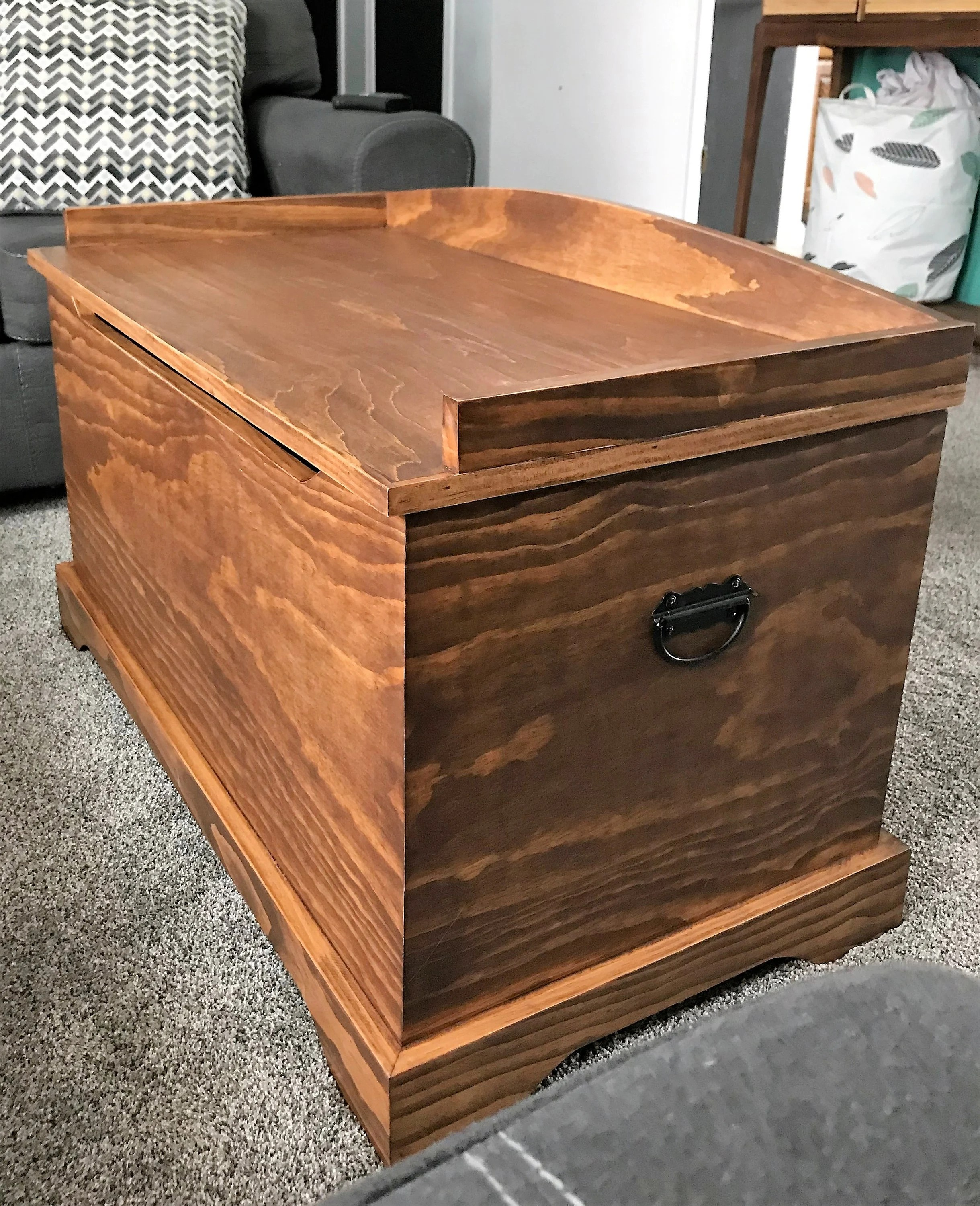 Wood Blanket Box Blanket Chest Rustic Blanket Chest Rustic Toy Box Hope Chest Toy Box Wood Chest Wood Blanket Chest Wood Toy Box Dark Walnut